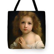 Little Girl And Her Prayer Tote Bag