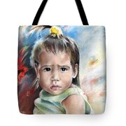 Little Girl From Tahiti Tote Bag