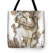 Little Girl Tattoed Tote Bag