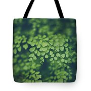 Little Green Leaves Tote Bag