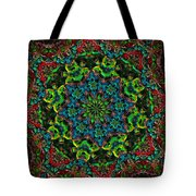 Little Green Men Kaleidoscope Tote Bag