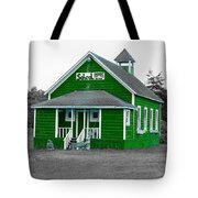 Little Green School House Tote Bag