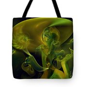 Little Green Seahorse  Tote Bag
