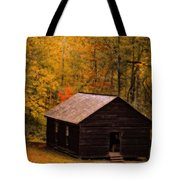 Little Greenbrier Schoolhouse In Autumn  Tote Bag