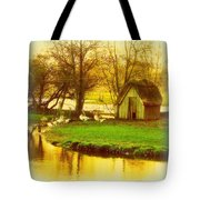 The Geese Have A Little House By The Flood Tote Bag