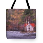 Little House On The Lake Tote Bag