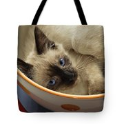 Little Miss Blue Eyes Tote Bag by Andee Design