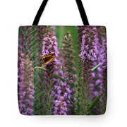 Little Orange And Black Butterfly Tote Bag