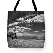 Little Prarie Big Sky - Black And White Tote Bag