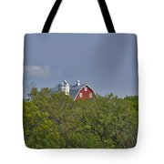 Little Red Barn In The Vale Tote Bag