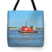 Little Red Boat On The Mighty Mississippi Tote Bag
