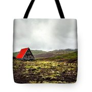Little Red Cabin Tote Bag