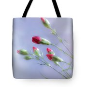Little Red Carnations In The Sun Tote Bag