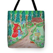 Little Red Riding Hood With Grandma's House On Mailbox Tote Bag