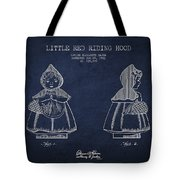 Little Red Riding Hood Patent Drawing From 1943 Tote Bag by Aged Pixel
