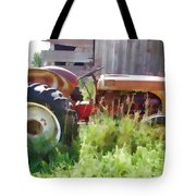 Little Red Tractor Tote Bag