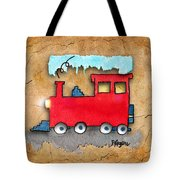 Little Red Train Tote Bag