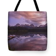 Little Redfish Lake Sunset Stanley Idaho Tote Bag