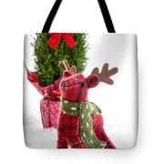 Little Reindeer Christmas Card Tote Bag