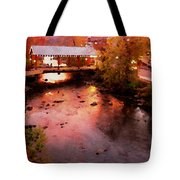 Little River Bridge At Sunset Gatlinburg Tote Bag