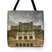 Little Rock Central High Reflecting Upon The Past Tote Bag by Jason Politte