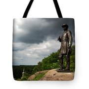 Little Round Top Hill Gettysburg Tote Bag by James Brunker