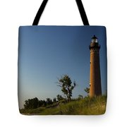 Little Sable Lighthouse By Silver Lake Michigan No.557 Tote Bag