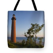 Little Sable Lighthouse By The Shore Tote Bag