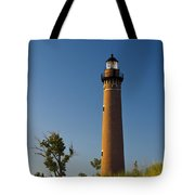 Little Sable Lighthouse On The Dune By Silver Lake Michigan No.560 Tote Bag