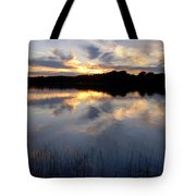 Little Silver Lake Sunset Tote Bag