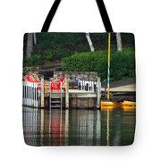 Little Sister Dock Reflection Tote Bag