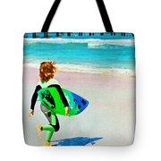 Little Surfer Dude Tote Bag