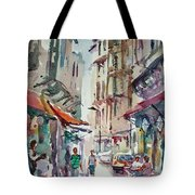 Little Trip At Exotic Streets In Istanbul Tote Bag