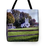 Little Village Chapel Of The Immanuel Lutheran Church Tote Bag