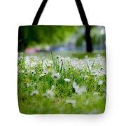 Little White Flowers II Tote Bag