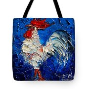Little White Rooster Tote Bag