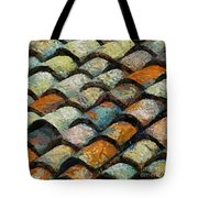 Littoral Roof Tiles Tote Bag