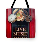 Live Music Daily Tote Bag