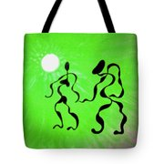 Lively Rhythms In Green Tote Bag
