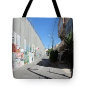 Living Next To Wall Tote Bag