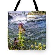 Living On The Edge Niagara Falls Tote Bag