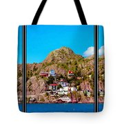 Living On The Edge Of The Battery Painterly Triptych Tote Bag