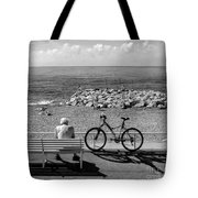 Living The Dream.nice.france.bw Tote Bag