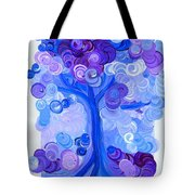 Liz Dixon's Tree Blue Tote Bag