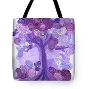 Liz Dixon's Tree Purple Tote Bag