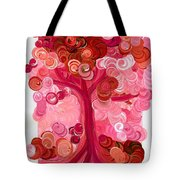 Liz Dixon's Tree Red Tote Bag