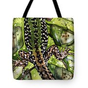 Lizard In Green Nature - Elena Yakubovich Tote Bag