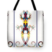 Lizard Love An Abstract Reptilian Adventure Tote Bag