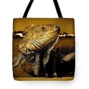 Lizard Sunbathing In Miami II Tote Bag