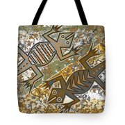 Lizards Spring Dance Tote Bag